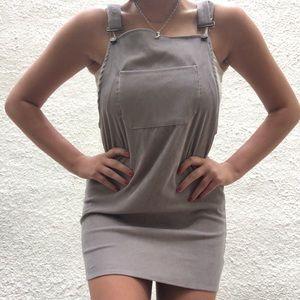 Corduroy overall dress.